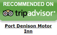Recommended on Trip Advisor - Port Denison Motor Inn